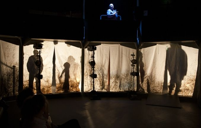 Feeble Minds. Spare Tyre theatre company. Set design by Rajha Shakiry, Projection design by Matt Spencer. 2009