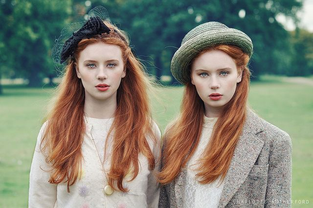 Redhead twins! I'm a redhead twin too but we  are fraternal (boy/girl). Both of us are gingers.