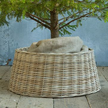 Basket Tree Skirt - contemporary - holiday decorations - Terrain