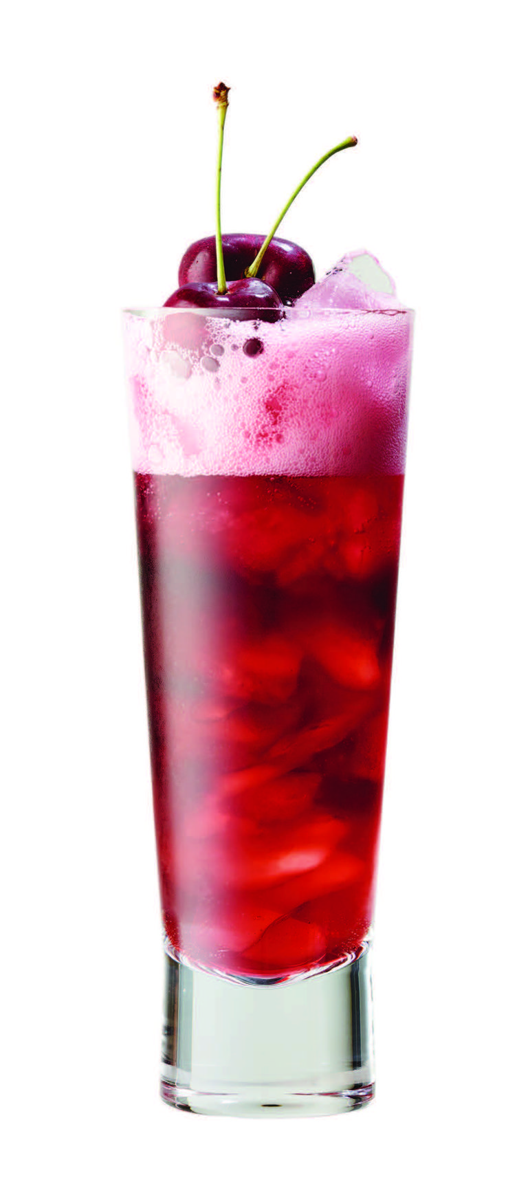 Place ice in tall glass. Add juice and Barefoot Red Moscato. Top with soda and garnish with cherry.