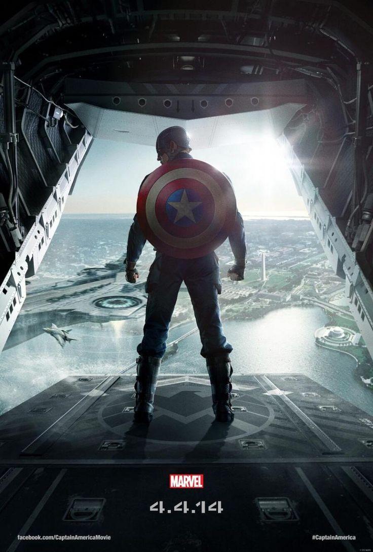 """Cartaz nacional do filme """"Capitão América 2: O Soldado Invernal"""" http://cinemabh.com/imagens/cartaz-nacional-do-filme-capitao-america-2-o-soldado-invernal"""
