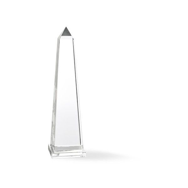 Williams-Sonoma Crystal Obelisks ($350) ❤ liked on Polyvore featuring home, home decor, european home decor and crystal home decor