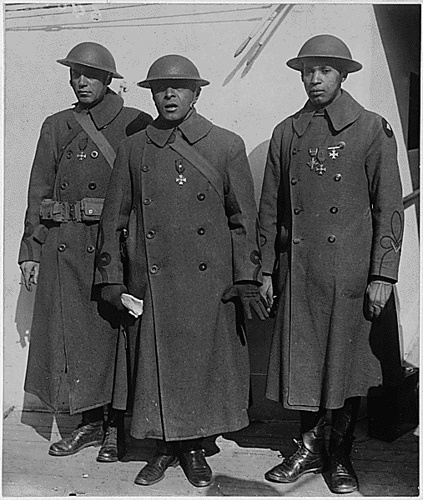 1919 February 10, Officers of Famous African American Regiment