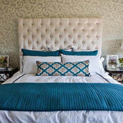 99 best images about Bedroom Inspiration - Teal, Cream, Gold, Aqua ...