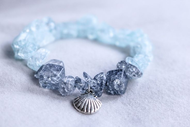 A personal favorite from my Etsy shop https://www.etsy.com/ca/listing/503132591/beaded-sea-glass-bracelet-in-blue-with