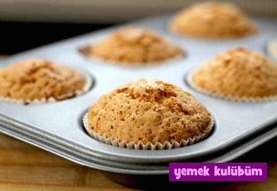 TARİF : Elmalı Yulaflı Muffin Kek #yemekkulubum
