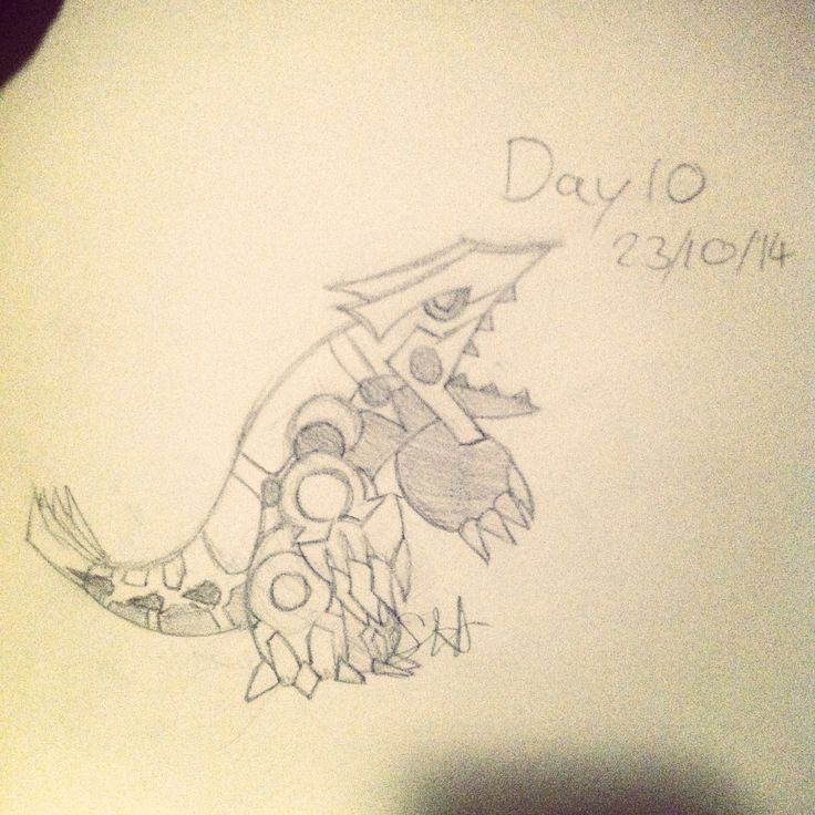 I need to improve my drawing ability so I'm challenging myself to draw every day for 30 days. Here's day 10: Primal Groudon