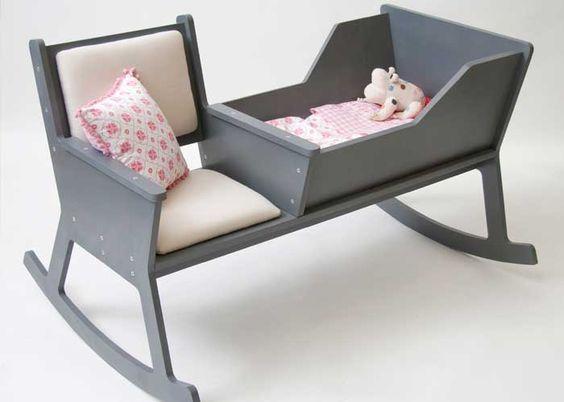Sallanan Sandalye ve Beşik Bir Arada, beşik modelleri, fonksiyonel mobilyalar, bebek yatağı modelleri, ilginç tasarımlar, sallanan sandalye