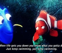just keep swimming, swimming, swimming...