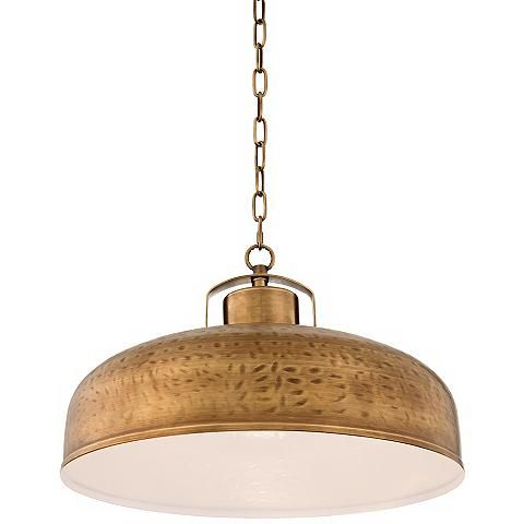 "Essex 18"" Wide Dyed Brass Metal Pendant Light - #4K745 