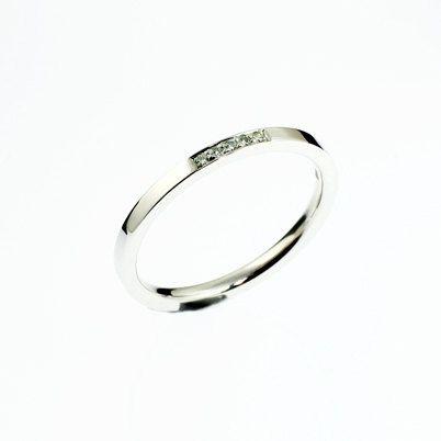 Diamond Wedding Band White Gold Yellow Rose Palladium Platinum Ring Thin Simple Minimalistic Ideas
