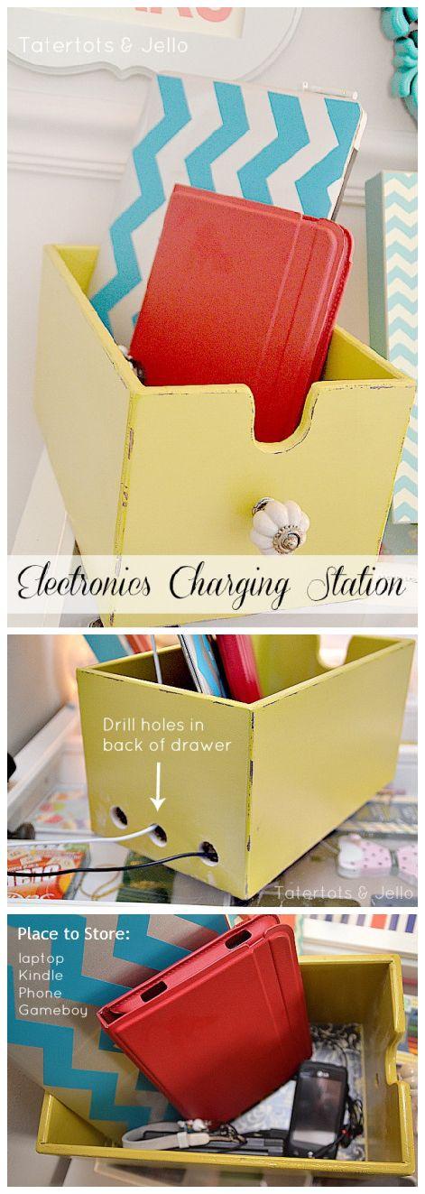 DIY electronics charging station