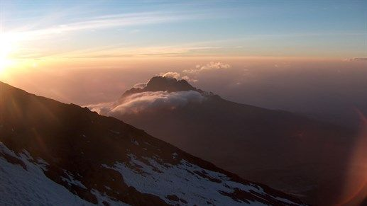 The view from the top of Kilimanjaro, Tanzania #mountans #climbing #trekking #scenery #africa