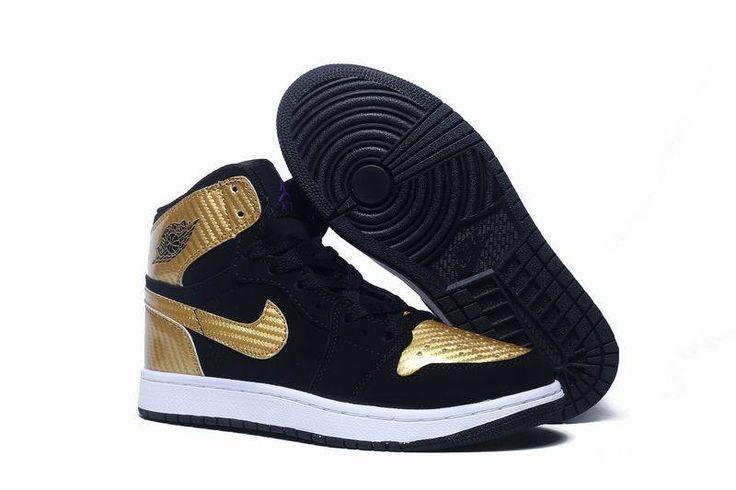 Men\u0026#39;s Nike Air Jordan 1 Retro High Black Gold | Nike Air Jordans, Air Jordans and Black Gold