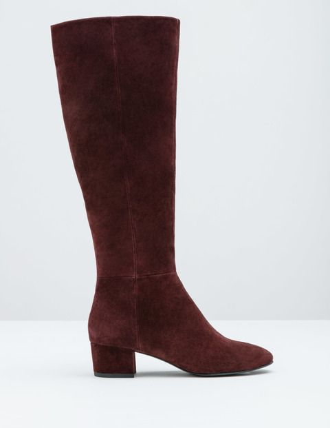 Suede Knee High Boot AZ246 Boots at Boden