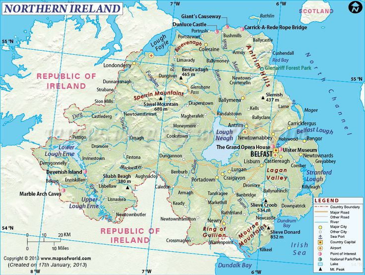 information - As you can see from this photograph it shows us a map of Northern Ireland, this gives us information on how to get around Northern Ireland and how to travel around the country.