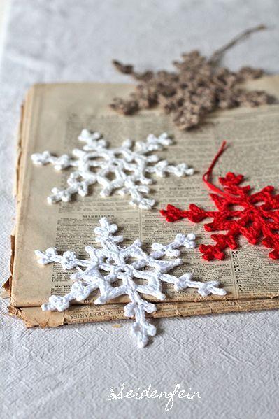 Häkeln Schneeflocken Anleitung Tutorial Adventskalender