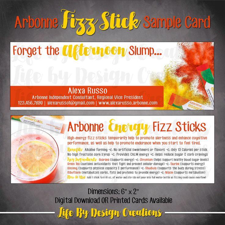 Arbonne  Fizz Stick Sample Card - DOWNLOAD by LiveaLifebyDesign on Etsy  Business Cards
