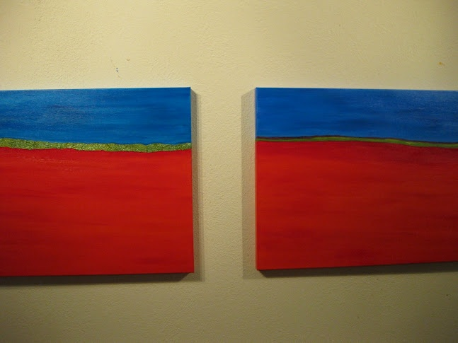 Comparing the two....lighting does not show the striking difference between blues.