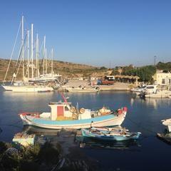 Photo taken at Arkoi Island by Aslihan on 8/22/2015
