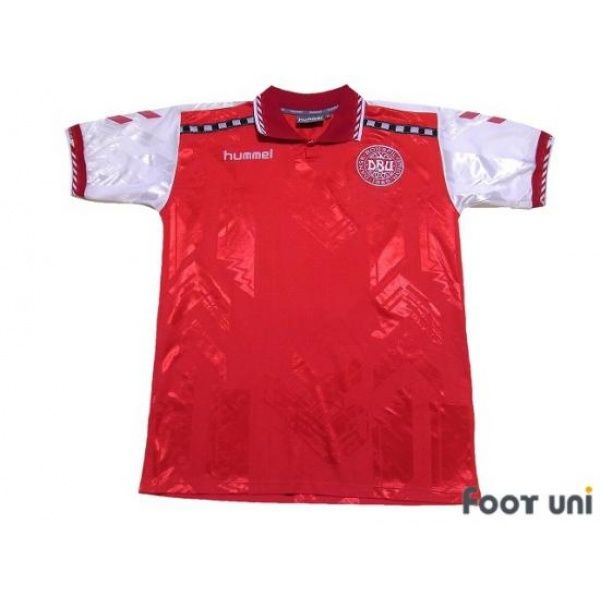 Photo1: Denmark Euro 1996 Home Shirt - Football Shirts,Soccer Jerseys,Vintage Classic Retro - Online Store From Footuni Japan