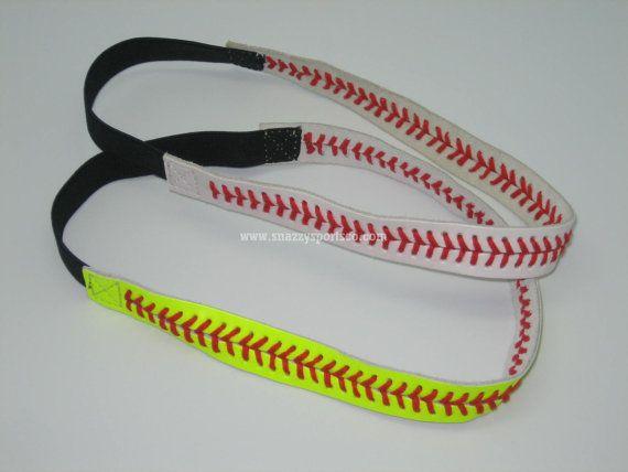 I am posting this for jacy! Baseball/Softball Headbands by SnazzySportsCo on Etsy, $9.99