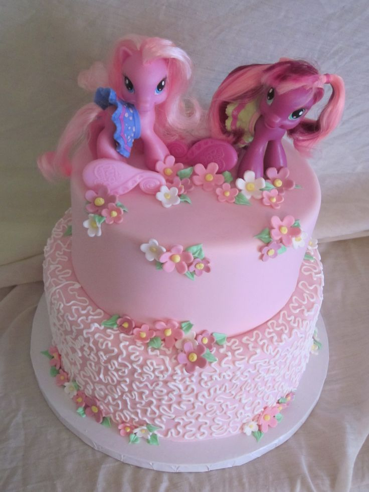 My Little Pony Cake - Client wanted a My Little Pony Themed cake and this is what I came up with.