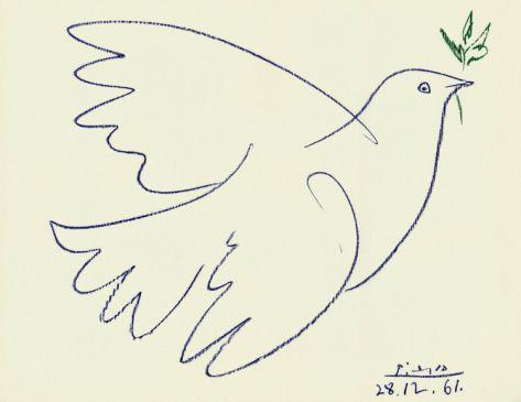 Blue Dove Print by Pablo Picasso at Art.com