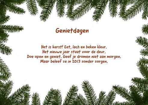 een inzending voor de kerstkaarten teksten wedstrijd 2012 van Karina Schutten