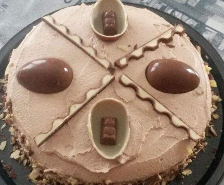 Rezept Kinderschokoladen Ü-Ei Torte von JasminHansen - Rezept der Kategorie Backen süß
