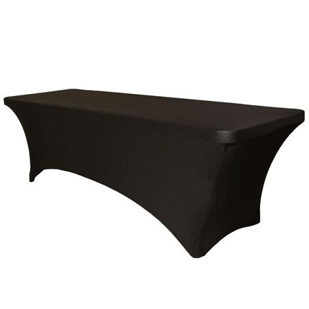 4' Black Stretch Fitted Tablecloth by smartyhadaparty.com!