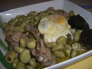 Os cozinhados da Patrícia: Favas guisadas com entrecosto e ovos escalfados