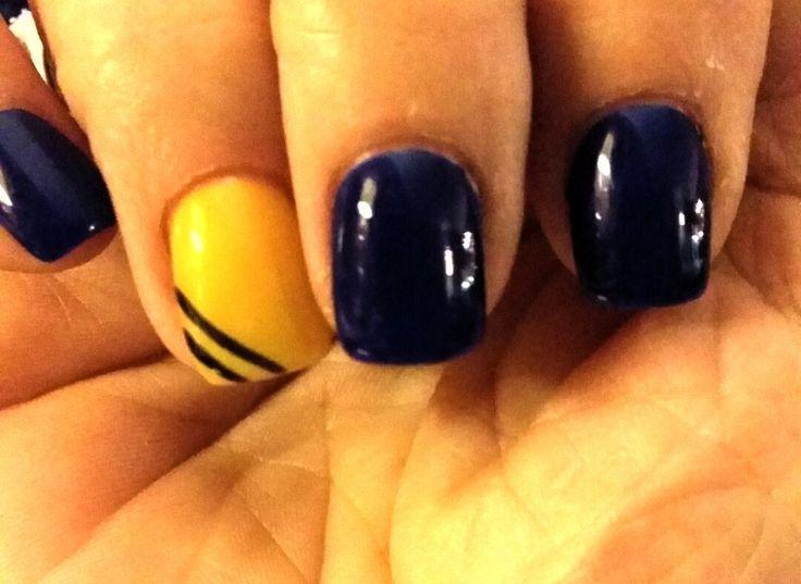 Michigan Wolverine Nails