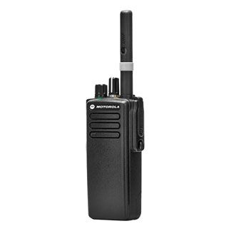 The XiR P8608 MOTOROLA Digital DMR Walkie Talkies delivers unrivaled voice and data communications with integrated Bluetooth audio and data, and integrated GPS, and best-in-class audio that includes Intelligent Audio and customizable voice announcement feature.  Available in UHF and VHF frequency bands, the XiR P8608 features , five programmable buttons, up to 32 channel capacity, emergency button, IP57 specifications for submersibility and FM intrinsically safe option.