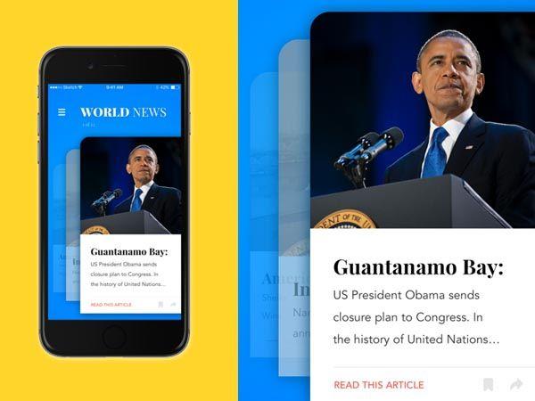 40 Creative News App UI Design for Inspiration