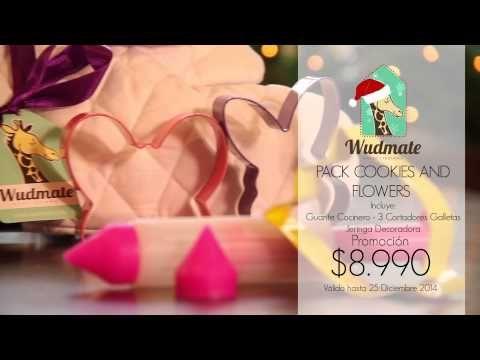 Wudmate: Pack Cookies and Flowers. Esta #Navidad encuentra tus #regalos en www.wudmate.com.  Envíos a todo #Chile y Retiro Gratis en Tienda. #Christmas #Gifts #Ideas #Giftstore #Love #Basket