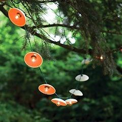 pigeon toe ceramics porcelain shades: Lights Shades, Outdoor Patio, Pigeon When, String Lights, Crafts Website, Lights Ideas, Summer Night, Outdoor Lights, Disc String