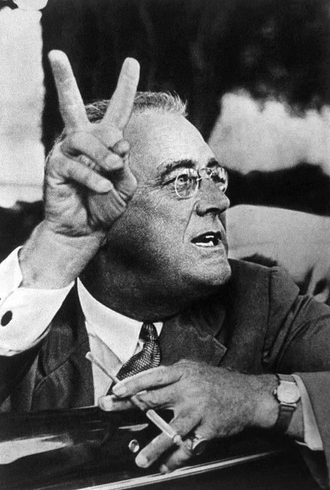 Franklin D. Roosevelt (1882-1945), U.S. President (1933-1945), ca. 1942