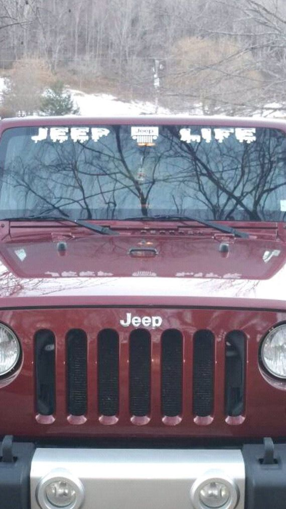 Jeep windshield decal custom by projectsbythebay on etsy