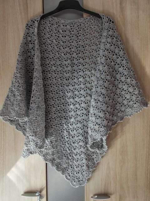 Renate's haken en zo: Gratis patroon randje voor South Bay Shawlette