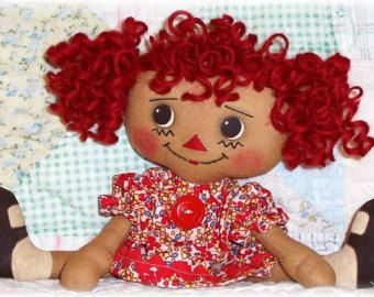 Rag Doll PATTERN PDF pattern Sewing Cloth Doll от OhSewDollin