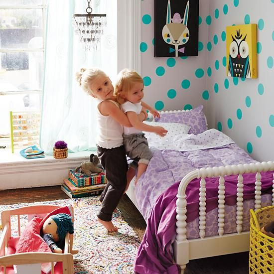 Dotty #kidsdecorJenny Lind, Polka Dots, Lind Toddlers, Girls Bedrooms, Toddlers Beds, Kids Room, Girls Room, Toddlers Room, Big Girls
