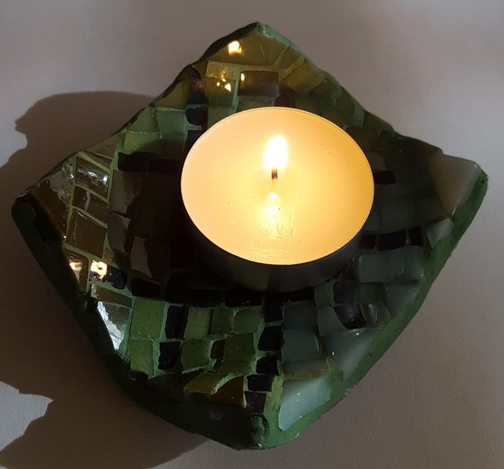 candle holder, mosaic glass
