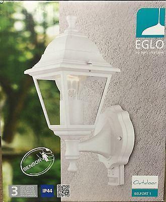 Aussenleuchte mit Bewegungsmelder  Aussenlampe Weiß Eglo 31347