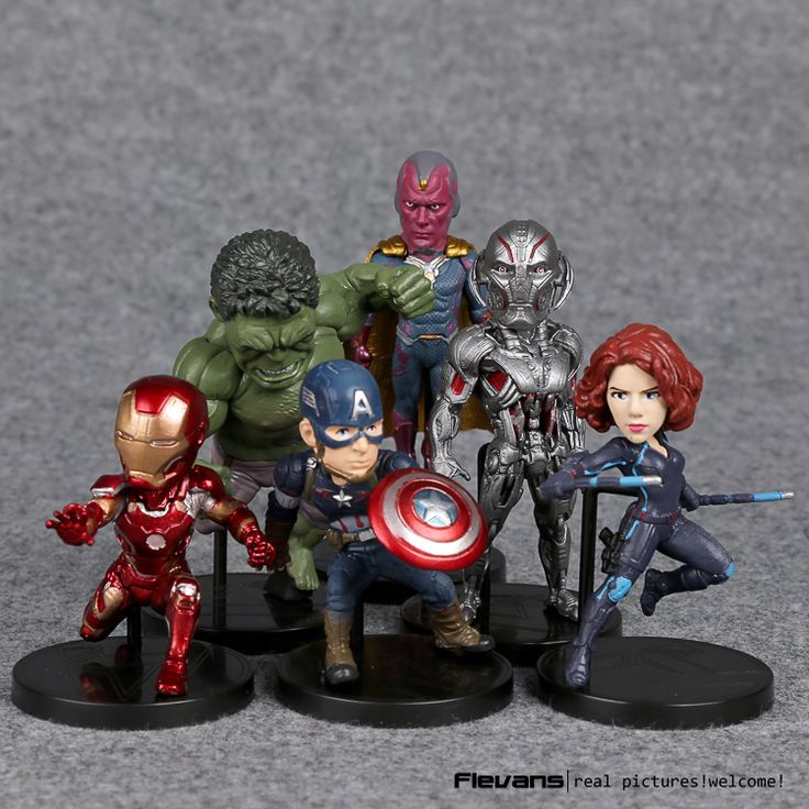 6Pcs Marvel Avengers 2 Age of Ultron Hulk Black Widow Vision Ultron Iron Man Captain America Action Figures Model Toys //Price: $23.78 & FREE Shipping //     #actionfigure