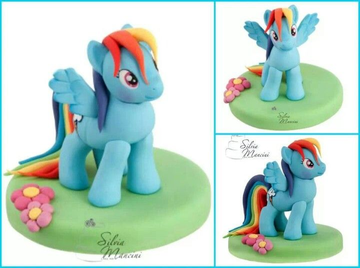 Rainbow Dash Cake Topper Birthday Party My Little Pony