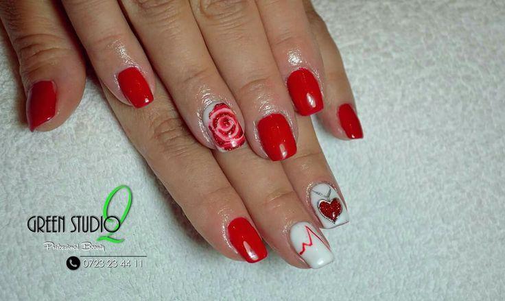 #NailArt #ManichiuraCuGel www.green-studio.ro/manichiura  / GS2: 0723234411