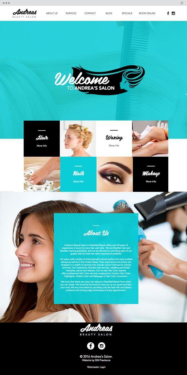 Andrea S Beauty Salon Beauty Salon Beauty Salon Design Salon Website