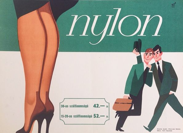 Nylons (1963 - 23.5 x 33.5 cm) - 220 USD at Budapest Poster Gallery