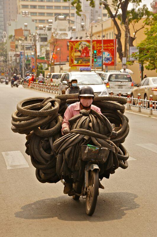 Transport at Saigon, Vietnam - Overloaded